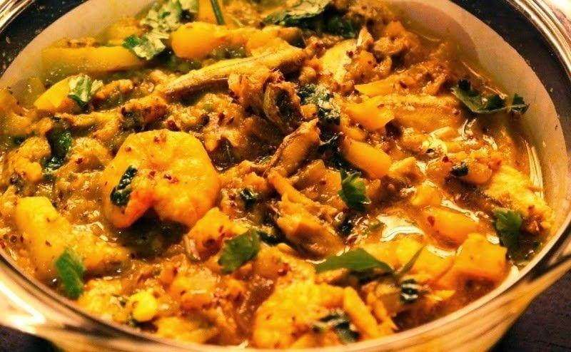 Bangladeshi chorchori charrd vegetables