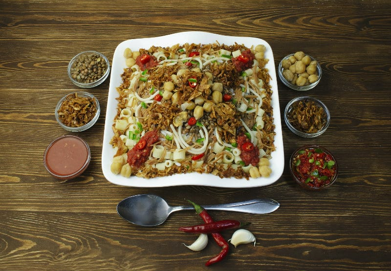 Egyptian Kushari, a food eaten by people of Egypt