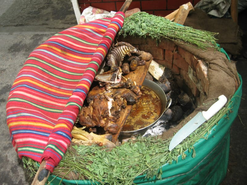 Pachamanca earth oven