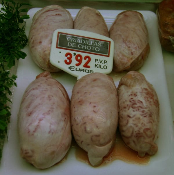 Beef (calf or bull) testicles from the butchers