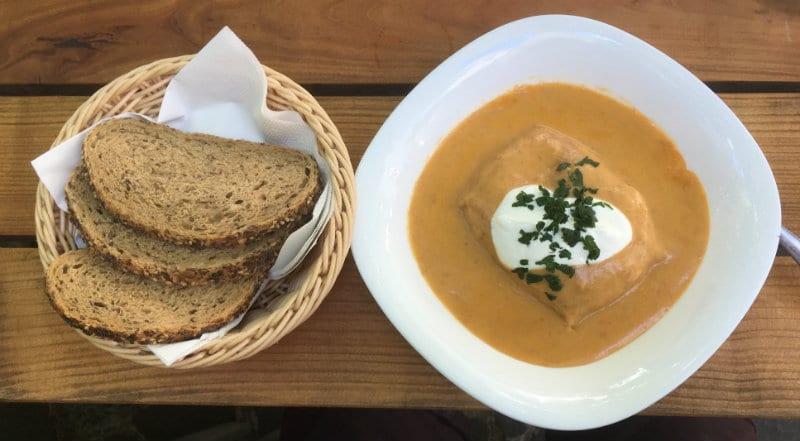 Hungarian Pancake Hortobagy style (mince meat stew stuffed crepe)