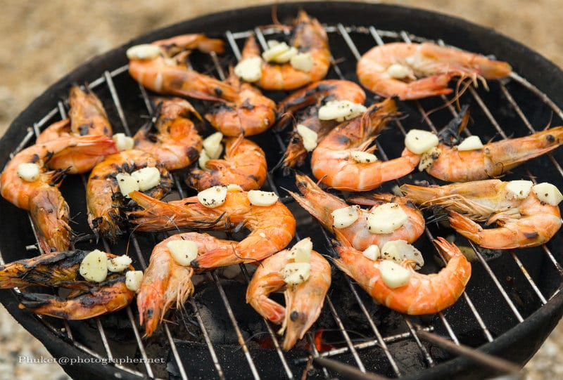 Australian Christmas dinner barbecued shrimp