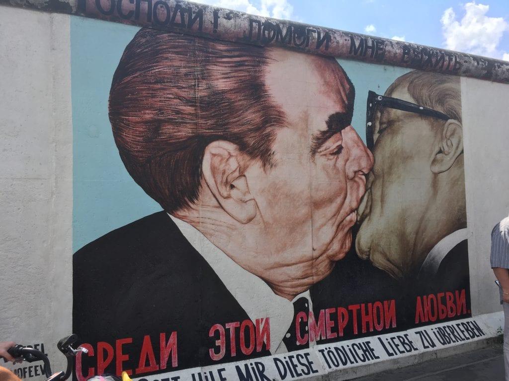 Berlin Wall Art Leonid Brezhnev and Erich Honecker kissing