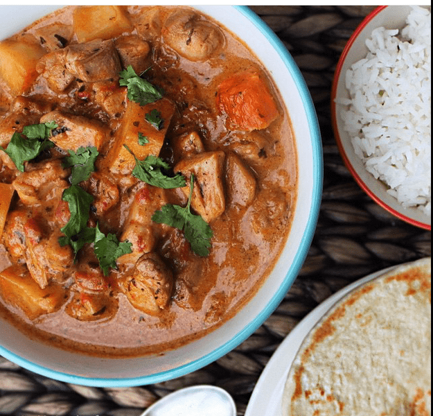 Chicken tikka masala curry is a favourite British dish