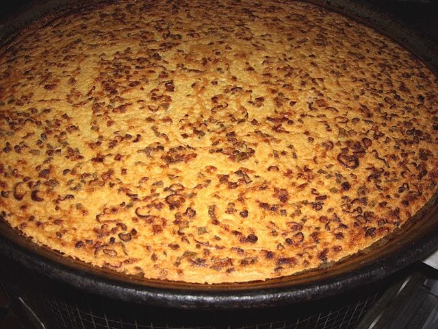 Farinata is a type of flat pancake made using chickpea flour