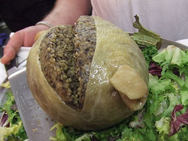 Haggis is a Scottish favourite