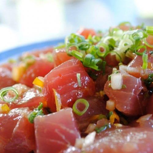 Hawaiian Ahi Poke Bowl Recipe