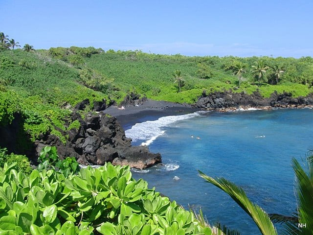 Maui Black Sand Beaches Hawaii
