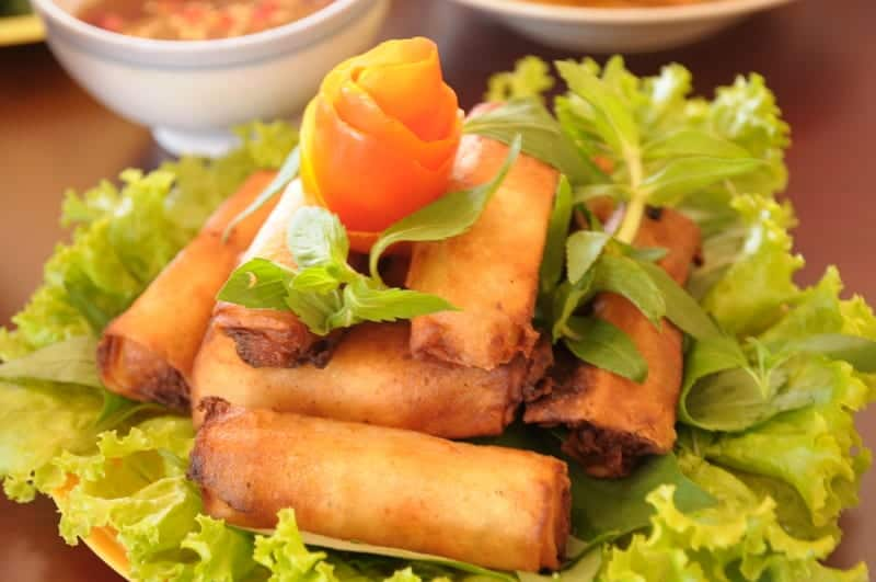 Lumpia deep-fried spring rolls