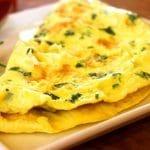 Omelette aux œufs d'autruche
