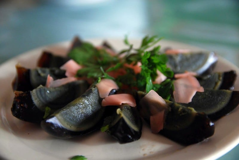 Century Egg with Pickled Ginger