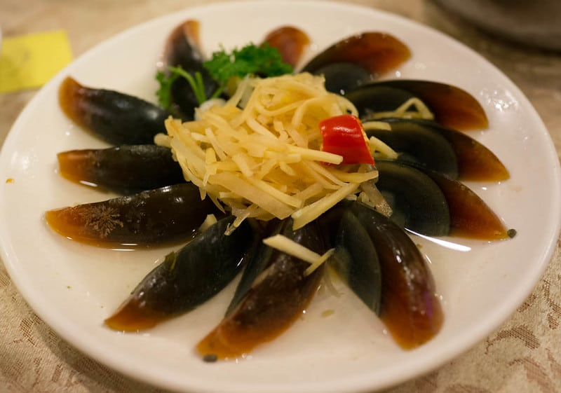 How to eat century egg